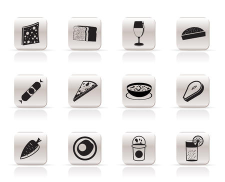 Shop, food and drink icons 2 - vector icon set Stock Vector - 6025759