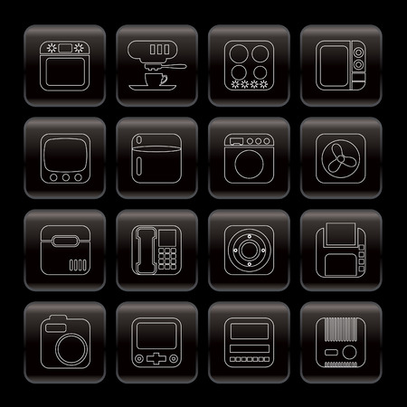 Line Home and Office, Equipment Icons - Vector Icon Set Vector