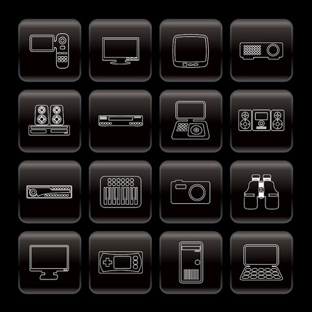 Line Hi-tech equipment icons - vector icon set 2 Stock Vector - 6025776