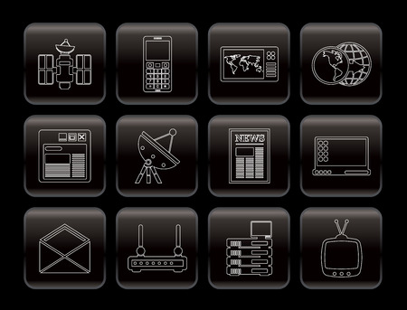 Communication and Business Icons - Vector Icon Set Stock Vector - 6082780
