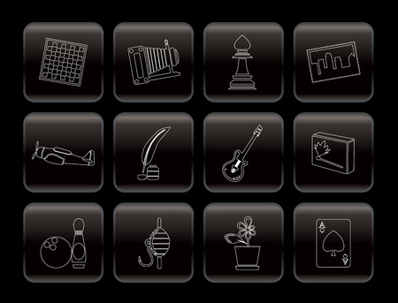 Hobby, Leisure and Holiday Icons - Vector Icon Set Stock Vector - 6082777