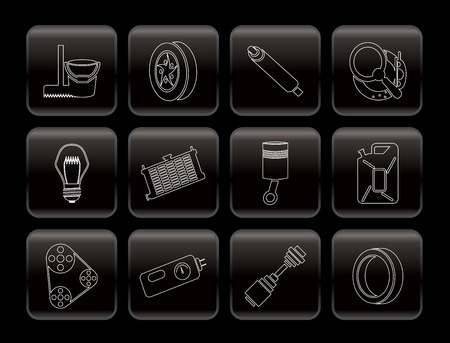 car accessory: Car Parts and Services icons - Vector Icon Set 2
