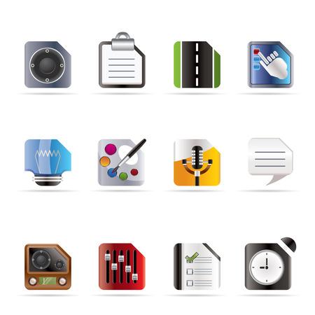 Teléfono móvil, el equipo y la Internet Icons - vectores Icon Set 3