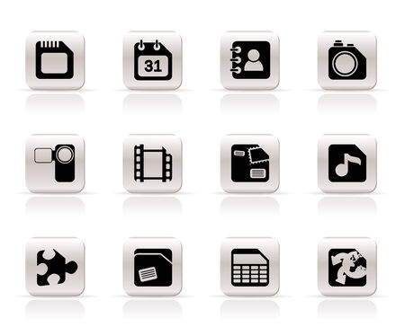 Mobile Phone, Computer and Internet Icons - Vector Icon Set Stock Vector - 6111976