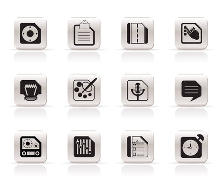 Mobile Phone, Computer and Internet Icons - Vector Icon Set 3 Stock Vector - 6111984