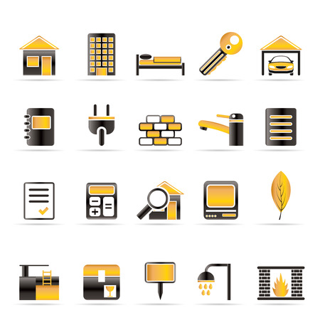 Real Estate and building icons - Vector Icon Set Stock Vector - 6144283