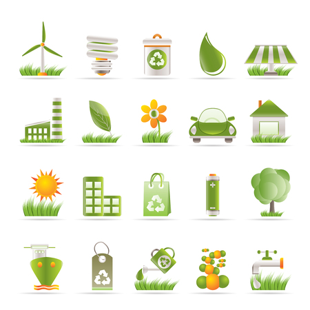 Ecology and nature icons - vector icon set Vector