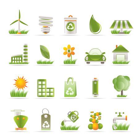 generadores: Iconos de Ecolog�a y naturaleza - conjunto de iconos de vector  Vectores