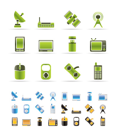 technology and Communications icons - icon set - 3 colors included Stock Vector - 6230706