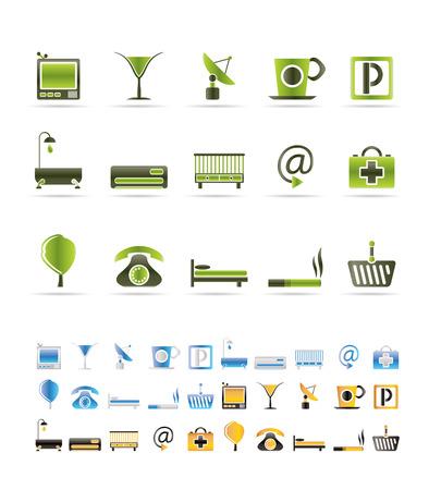 motel: Hotel and motel icons  - icon Set