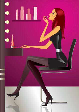 sexy woman make-up - vector illustration Stock Vector - 6241208