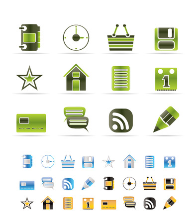Internet and Website Icons - Vector Icon Set - 3 colors included Stock Vector - 6296240