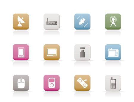 technology and Communications icons - vector icon set Stock Vector - 6296232
