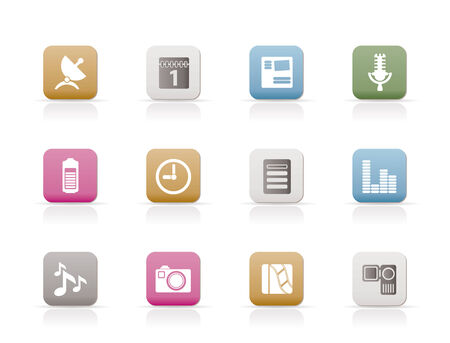 Mobile phone performance icons - vector icon set  Stock Vector - 6296230
