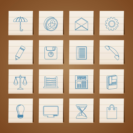 Business and Office internet Icons - Vector icon Set Stock Vector - 6296236