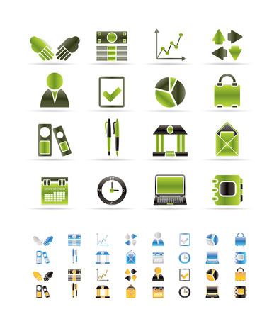Business and Office icons Stock Vector - 6346364