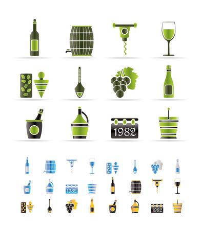 wine trade: Wine Icons