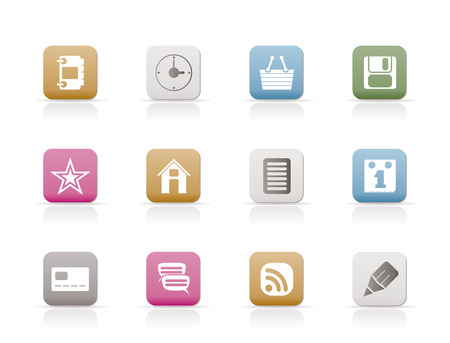 Internet and Website Icons Stock Vector - 6346336