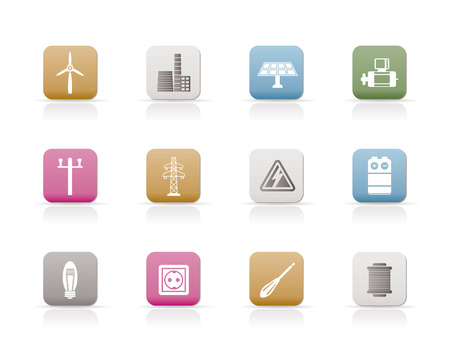 Electricity and power icons Stock Vector - 6346332