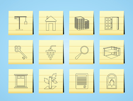 Simple Real Estate icons  Set Vector