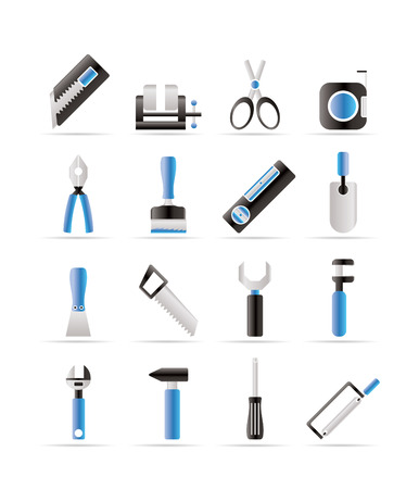 vise: Building and Construction Tools icons  Set