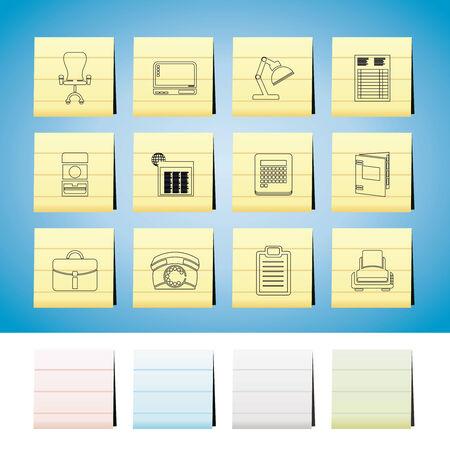 fermo: Affari, ufficio e set di icone ferma