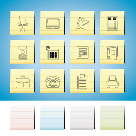 Business, office and firm icons  set Stock Vector - 6399086
