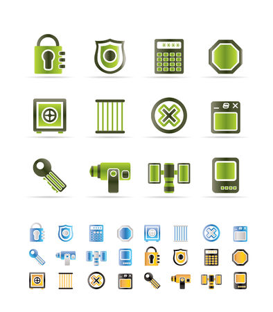 Security and Business icons  set Vector