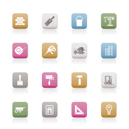 Construction and Building icons  Set  Stock Vector - 6399087