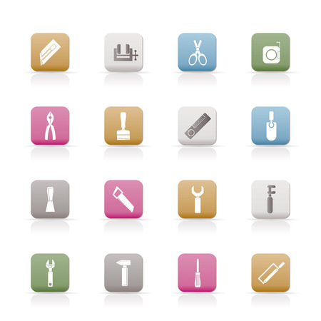 Building and Construction Tools icons  Set Stock Vector - 6399079