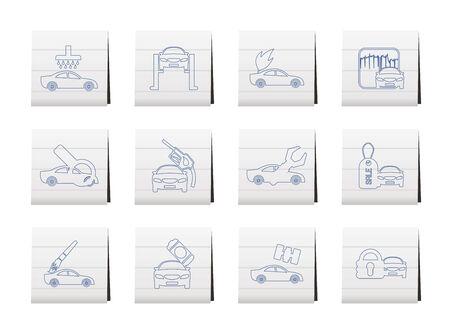 overhaul: car and automobile service icon