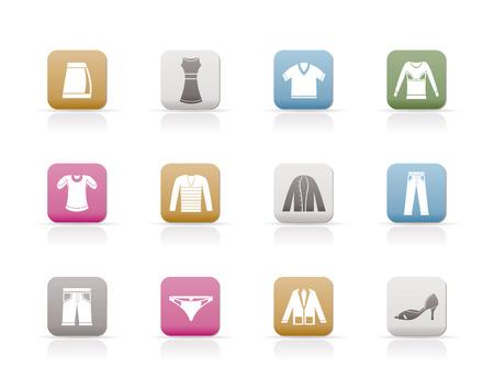 Icônes de vêtements  Vecteurs