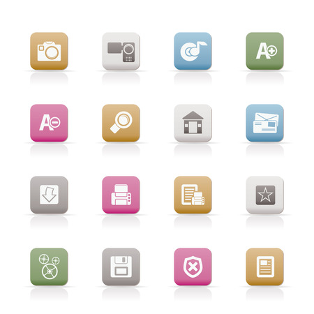 Internet and Website icons  Stock Vector - 6467646