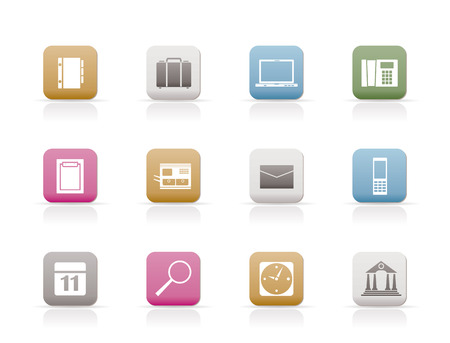 Business, Office and Mobile phone icons - Vector Icon Set Stock Vector - 6467639