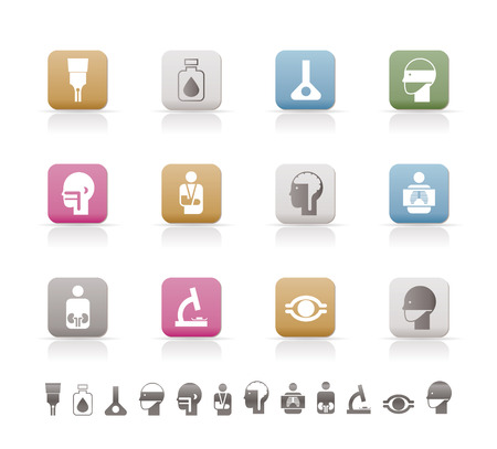infectious: medical, hospital and health care icons Illustration