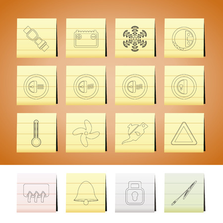 Car Dashboard icons -  vector icons set Vector