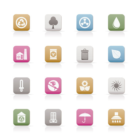 Ecology icons -vector icon set Stock Vector - 6543113