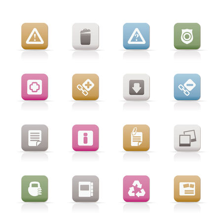 Web site and computer Icons - vector icon set Vector