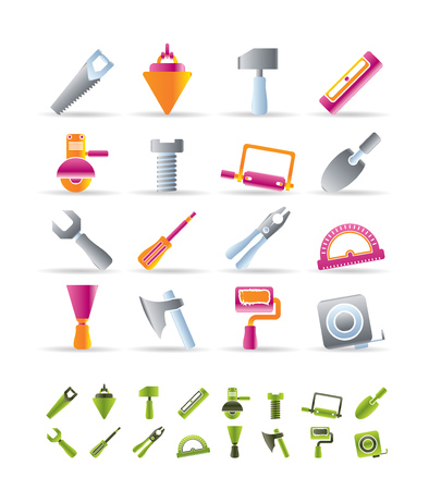 Building and Construction Tools icons - Vector Icon Set Stock Vector - 6543129