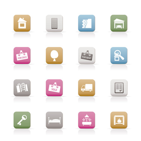Real Estate icons - Vector Icon Set Stock Vector - 6543106