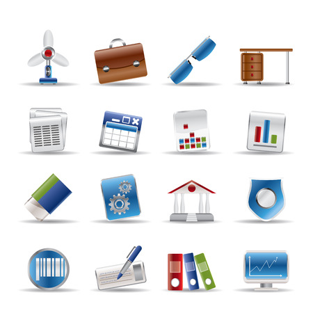 Realistic Business and Office Icons - Vector Icon Set 2 Stock Vector - 6578066
