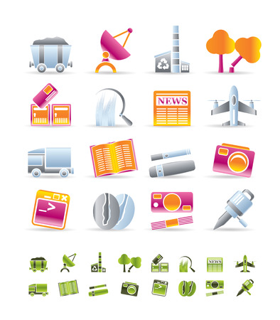 Business and industry icons - Vector Icon set Stock Vector - 6578061
