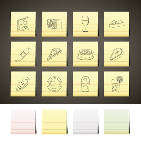 Shop, food and drink icons 2 - vector icon set Stock Vector - 6578058