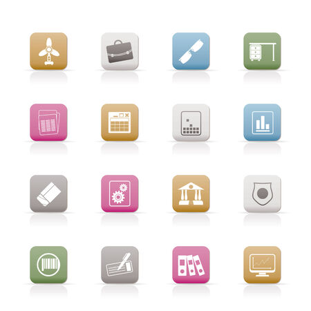 Business and Office Icons - Vector Icon Set 2 Stock Vector - 6578064