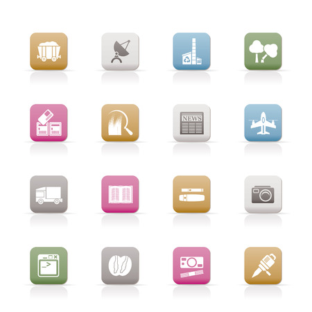 Business and industry icons - Vector Icon set Stock Vector - 6578062