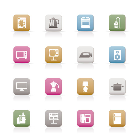 home equipment icons - vector icon set Stock Vector - 6637137