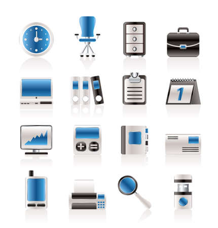 archive site: Business and office icons - vector icon set