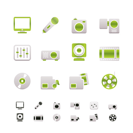 Media equipment icons Stock Vector - 6709002