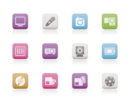 archive site: Media equipment icons Illustration