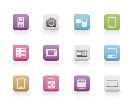 electronics icons: technical, media and electronics icons